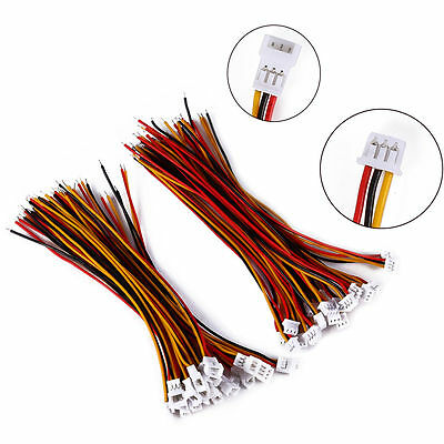 20 Pairs Micro JST 1.25 3-Pin Male & Female Battery Connector Plug Wires Cables