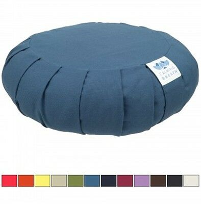 CalmingBreath Zafu Meditation Yoga Cushion Pilates Pillow Natural Buckwheat