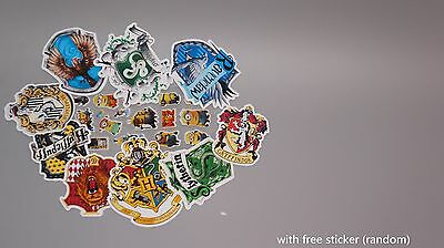 9x Harry Potter sracpbook stickers Hogwarts Cryffindor Slytherin house logo