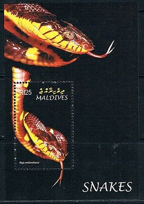 Bloc Sheet Serpents Snakes Neuf  MNH ** Maldives