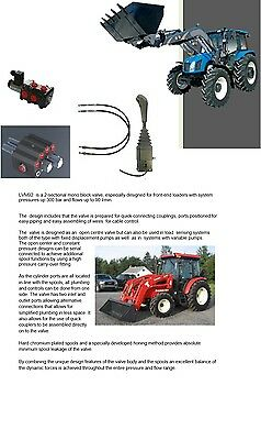 Hydraulic Kit Valve 3 Sections + Control Joystick For Front Loader Valve