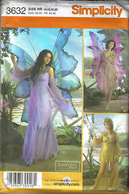 Simplicity Sewing pattern 3632 Women's Fairy costume in sizes 14-20