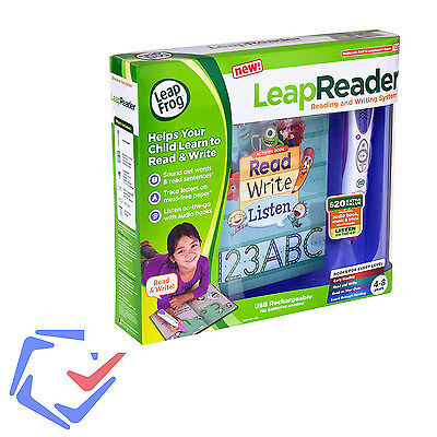 LeapReader Pink Leapfrog Learning Library Learn-to-read-and-write system