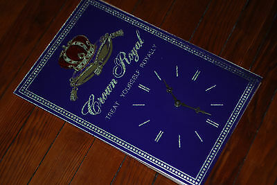 "Crown Royal ""Treat Yourself Royally"" Purple / Gold Clock Display Sign"