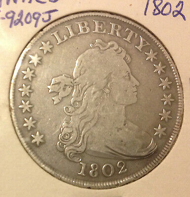 1802 Draped Bust Silver Dollar **** Very Low Mintage ****