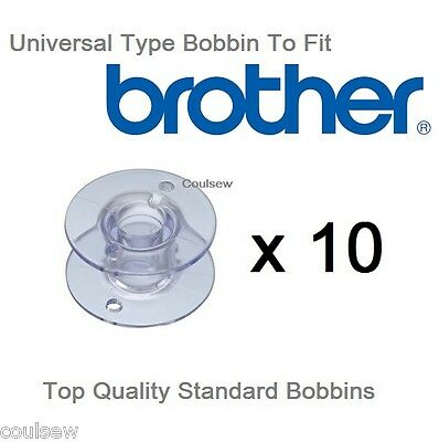 10 BOBBINS Universal Fit for BROTHER SEWING MACHINE 100% Quality Guaranteed