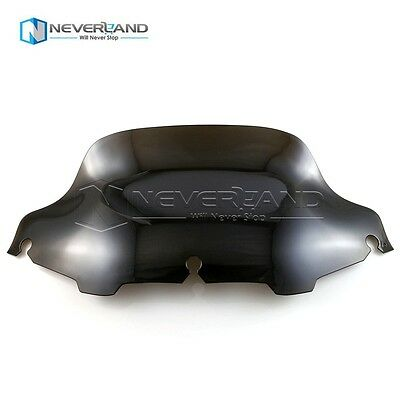 """8"""" Smoke Wave Wind Screen Shield For Harley Electra Street Glide Touring 96-13"""