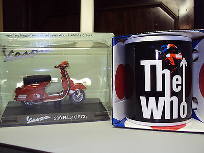 The Who Townend Leap Mug & 1972 Vespa 200 Rally Scooter Gift Appeal To Mods