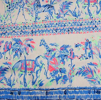 2017 Lilly Pulitzer Fruity Monkey Engineered Cotton Dobby Fabric 1.1 yds