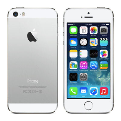 Apple iPhone 5S Silver 4S Black 16GB Factory Unlocked 4G Smartphone