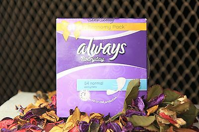 Always *everyday* 54 normal pantyliners up to 12h! protection Economy PACK of 2!
