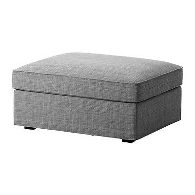 IKEA KIVIK - Cover for Ottoman with Storage Isunda Gray (cover only)