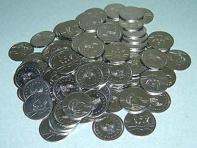 100 $1 Stainless Slot Machine Tokens - Newly Minted Dollar Size - Low Price !