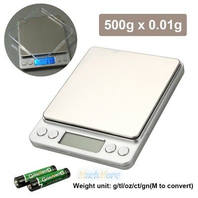 2019 Digital Scale 500g x 0.01g Jewelry Gold Silver Coin Gram Pocket Size Herb