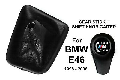Bmw E46 M Power 6 Speed Gear Stick & Shift Knob Gaiter Boot Natural Leather