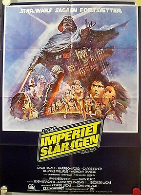 Star Wars Empire Strikes Back Vintage Danish Movie Poster 24 x 33 inch Tom Jung