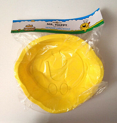MR HAPPY Large Yellow SILICONE CAKE MOULD Bake MR MEN BIRTHDAY PARTY GIRLS BOYS