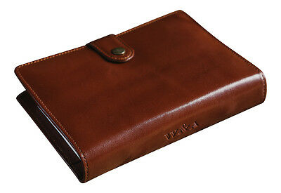 Classic Vintage Genuine Real Leather Personal Organiser Diary Filofax Compatible