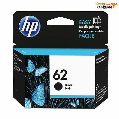HP 62 Original Black Ink Cartridge (C2P04AE) for Officejet 5740 and ENVY 5640