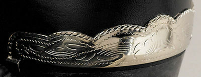 New! Western Cowboy Boot Heel Guards -Silver Scalloped