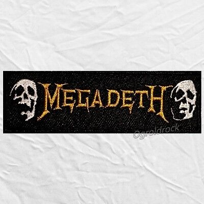 Megadeth Skulls & Word Embroidered Patch Dave Mustaine Heavy Metal Rock Band