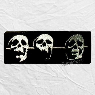 Megadeth Skulls Embroidered Patch Dave Mustaine Heavy Metal Rock Band Album
