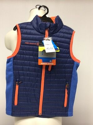 FREE COUNTRY POWER DOWN VEST BOYS KIDS SIZE XS-5/6 Navy