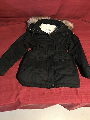 Abercrombie KIDS Girls Coat Parka-black size: 9-10 FAST SHIP