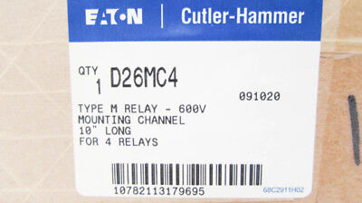 "Cutler Hammer D26MC4 10"" Relay Mounting Channel Type M 600V NEW NIB"