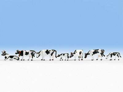 Cows - Black & White (7) - OO/HO figures - Noch 15721 - free post