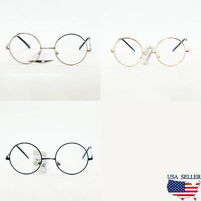 Unisex Non-Prescription Round Circle Frame Clear Lens Glasses