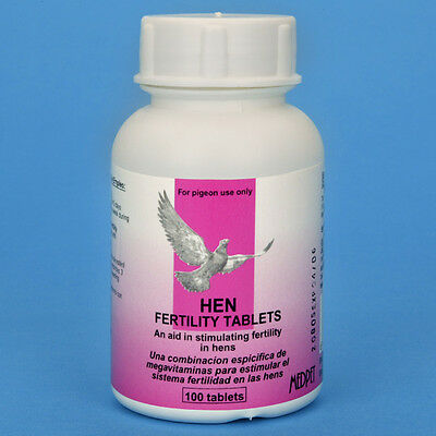 HEN FERTILITY TABLETS 50 ct (Medpet) - Racing Pigeons
