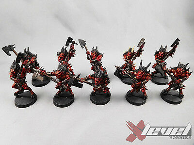 Bloodletters [Metal] [x10] Daemons of Chaos [Warhammer] Partial Painted
