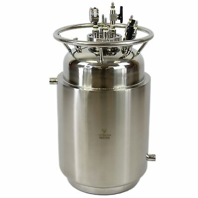 50# Jacketed Stainless Steel LP Tank w/ Internal Condensing Coil and Dip Tube