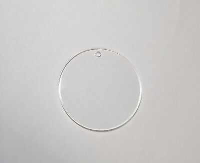 "Acrylic 3"" Circle Keychain Blanks Pack 25-50-100 Hardware Included"
