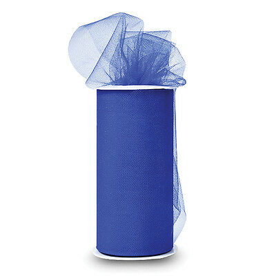 """Shiny Tulle 6"""" Wide 25yd Spool-Royal Blue"""