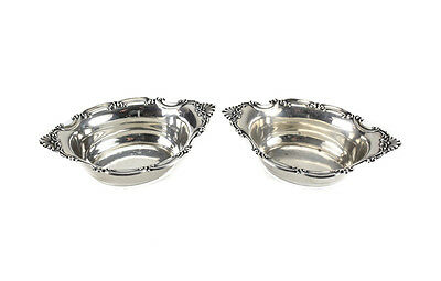 Vintage Pair of Gorham Sterling Silver Nut Dishes in Strasbourg #A2433