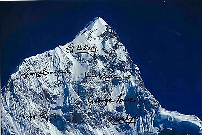 1953 Mount Everest Expedition Genuine Authentic Signed 12 X 8  Photo Aftal