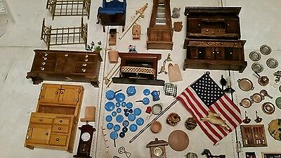 Vintage Dollhouse furniture and Accessories -Huge