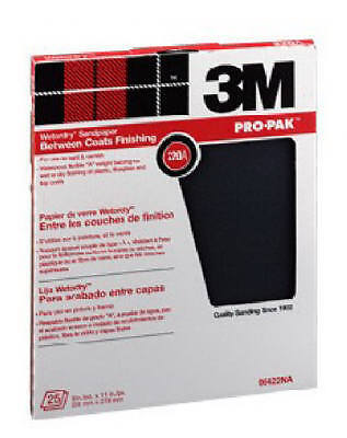 3M COMPANY - 25-Count 9 x 11-Inch 120-Grit Wet/Dry Silicon Carbide Sandpaper