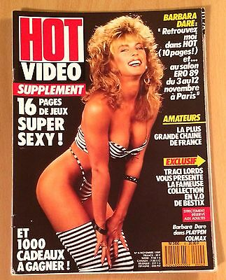 Hot Video N° 4 / French Magazine Revue Erotic / Barbara Dare , Traci Lords