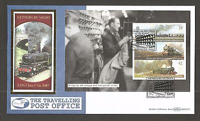 Benham 2004 Letters By Night Prestige Booklet Pane's Set Of Fdc's Lot Gb185