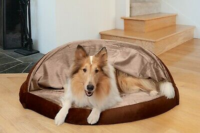 FurHaven Microvelvet Snuggery Orthopedic Dog Cave Bed Pet Bed