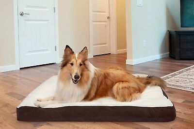 FurHaven Pet Deluxe Pillow Dog Bed - Multiple Materials Available