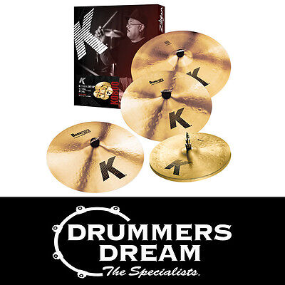 "Brand New Zildjian K Cymbal Pack Set 14"" K HH, 16"" 20"" & Free 18"" Dark Crash"