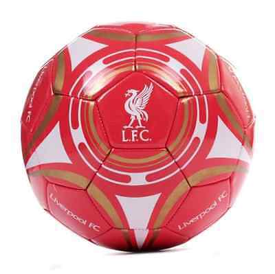 Liverpool FC Official Gift Size 5 Crest Football Red