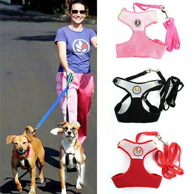 Small Pet Dog Cat Soft Lead Mesh Harness Puppy Halter Vest Leash Pet Accessories