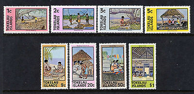 Tokelau 49-56 MNH - Crafts, Fishing Industry,A rchitecture