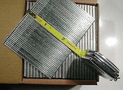 "Finish Brad Nails 16 gauge 2-1/2"" Inch Long 2,500pcs (Galvanized Chisel Point)"