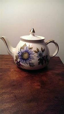 A Good Vintage Gibsons Floral & Gilt Staffordshire English Teapot
